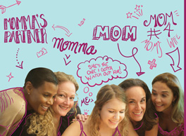 Image text reads: Momma's Partner, Momma, Mom, Mom number 4, and Heather from the movie Heather has Four Moms