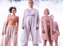 Photo image of 5 powerful dancers in ethereal dress.